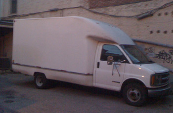 The moving van, not running