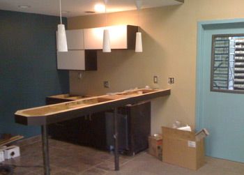 The kitchen coming together (slowly)