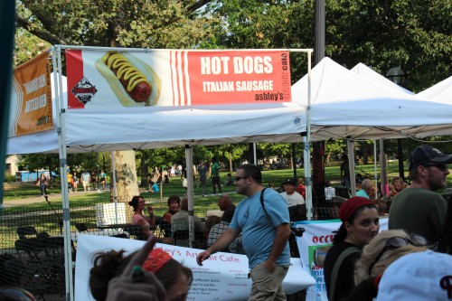 Ashley's hot dog booth