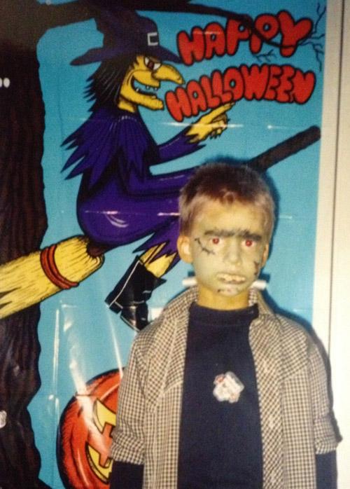 Matt dressed up Frankenstein