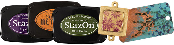 StazOn Inks and Metal