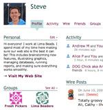 A profile page