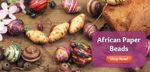 New African Paper Beads