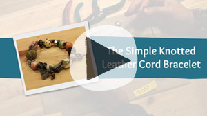 "Watch ""The Simple Knotted Leather Cord Bracelet"""