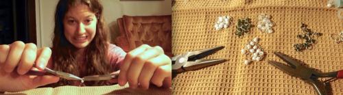 Using pliers