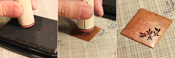 Using Rubber Stamps And Stazon Tip Lima Beads