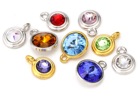 Crystal Bezel Charms
