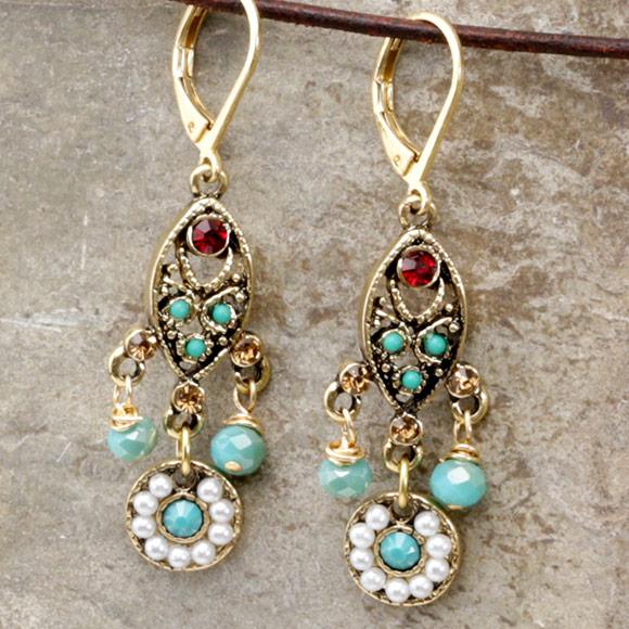 Chandelier Earrings Lima Beads