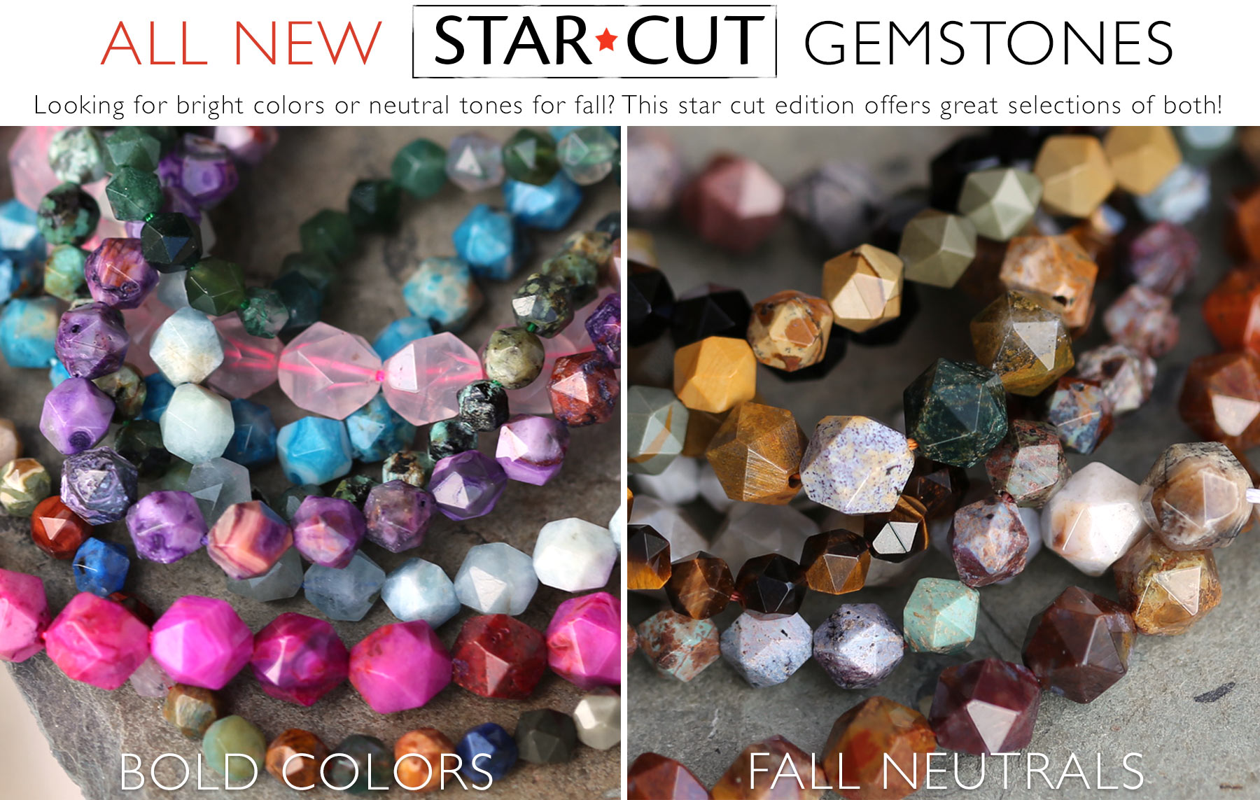Star Cut Gemstones