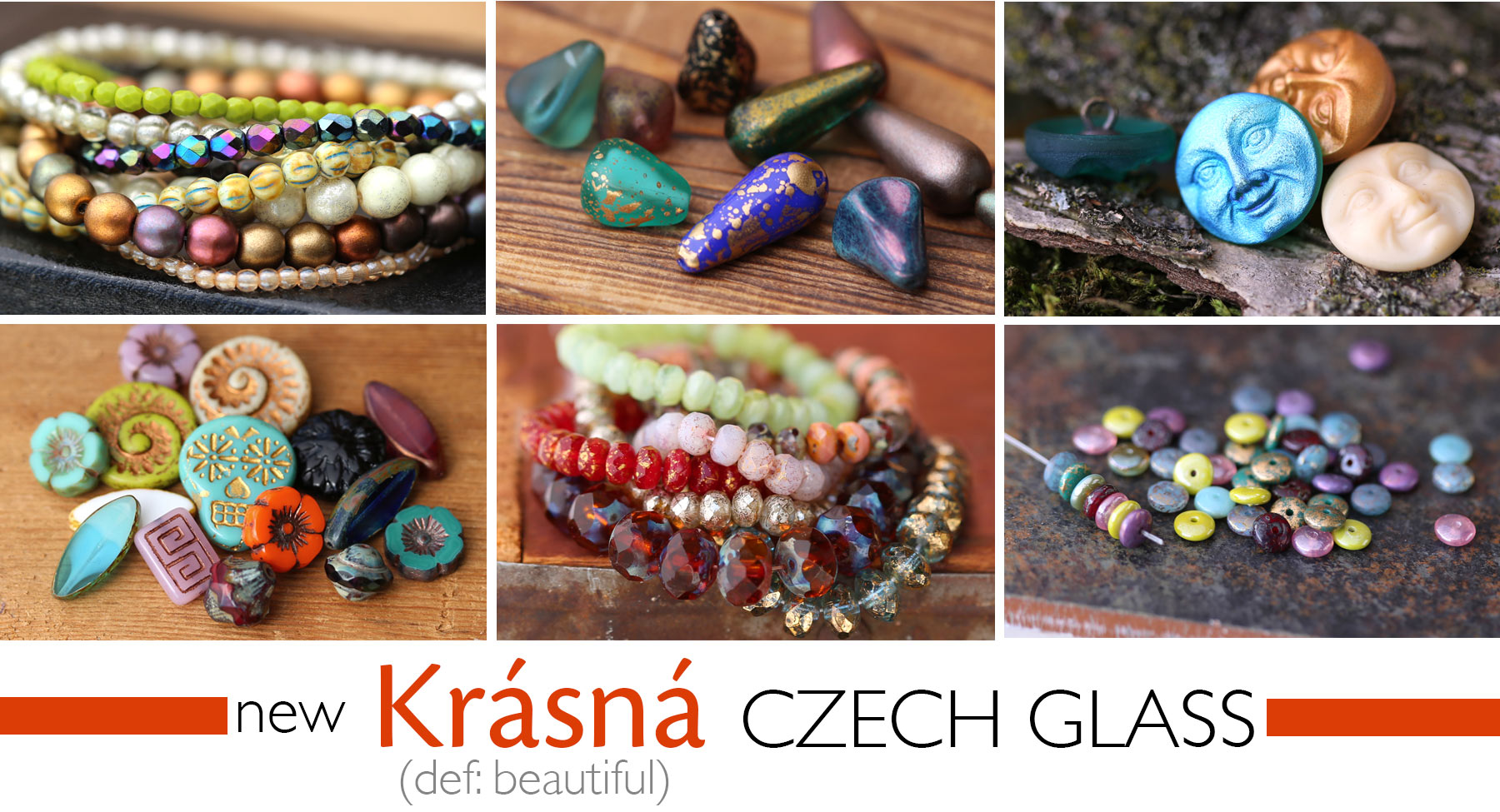 Brand New Czech Glass