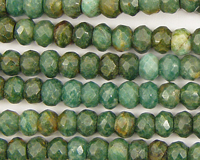 African Jade Faceted Rondelle 6mm