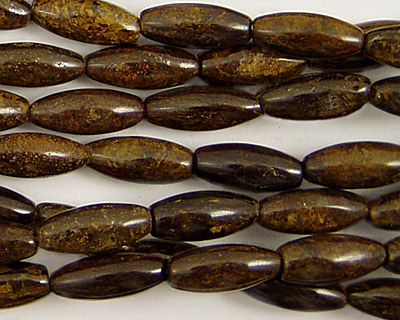 Bronzite Rice 12x5mm