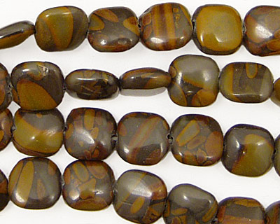 Golden Horse Jasper Puff Square 8mm