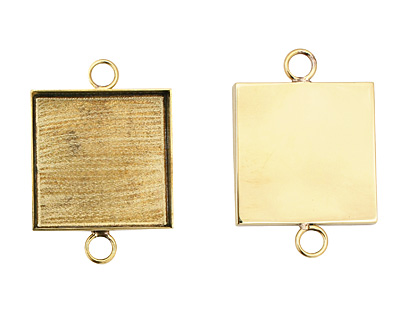 Brass Square Bezel Link 31mm