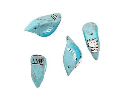 Humble Beads Polymer Clay Little Teal Bird 15-16x29-30mm