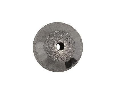 Gunmetal Brushed Round w/ Rings 15mm