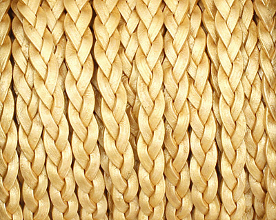 Gold (metallic) Flat Braided Leather Cord 5mm