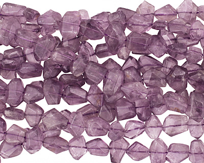 Amethyst Faceted Side Drilled Nugget 8-10x10-14mm