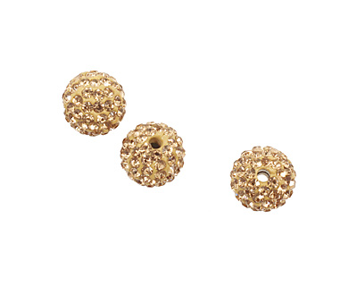 Light Colorado Topaz Pave Round 10mm
