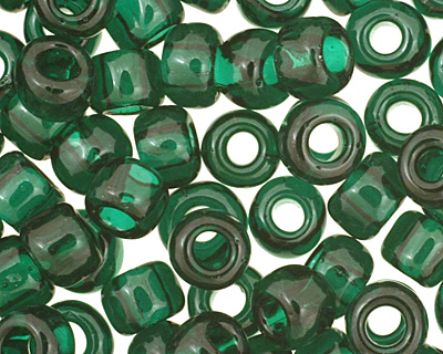 TOHO Transparent Green Emerald Round 6/0 Seed Bead