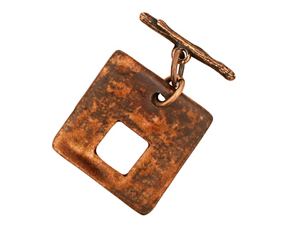 Earthenwood Studio Ceramic Square Lumber Toggle Clasp 26-27mm, 25mm bar