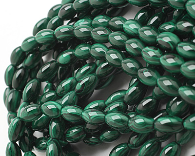 Malachite Rice 13x8mm