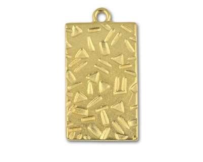 TierraCast Gold (plated) Textured Rectangle 19x35mm
