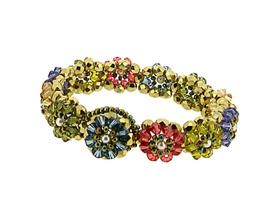 Glass Garden Gemstone Blooming Crystals Bracelet Kit