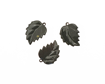 C-Koop Enameled Metal Steel Gray Leaf 15x20mm