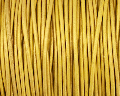 Mustard (metallic) Round Leather Cord 1.5mm
