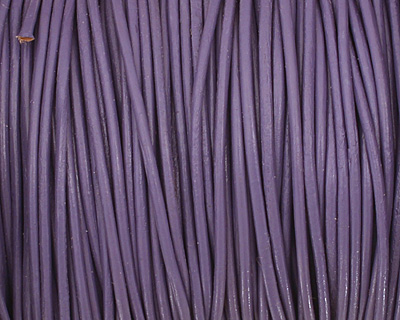 Light Violet Round Leather Cord 1.5mm