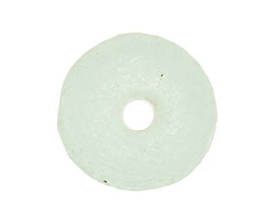 African Recycled Glass (seafoam) Irregular Round 14-15mm