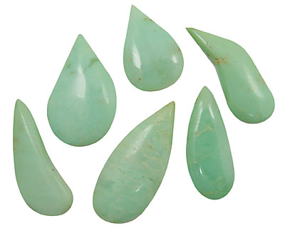 Chrysoprase Flat Freeform Drops 17x45-24x60mm