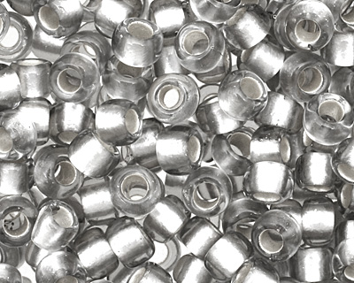 TOHO Black Diamond (with Frosted Silver Lining) Round 8/0 Seed Bead