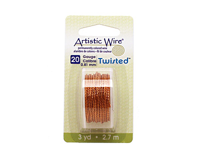 Twisted Artistic Wire Natural 20 gauge, 3 yards