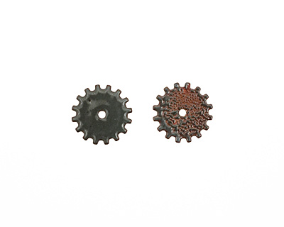 C-Koop Enameled Metal Steel Gray Closed Gear 19mm