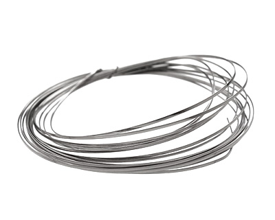 Soft Flex Silver Plated Pewter Half Round Craft Wire 18 gauge, 4 yards