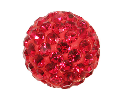 Ruby Pave Round 10mm (1.5mm hole)