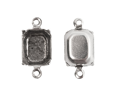 Nunn Design Sterling Silver (plated) Octagon Prong Setting 17x9mm