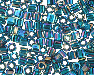 TOHO Transparent Rainbow Teal Cube 1.5mm Seed Bead