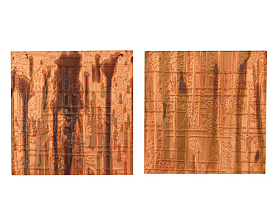 Lillypilly Enchantment Bamboo Embossed Patina Copper Sheet 3