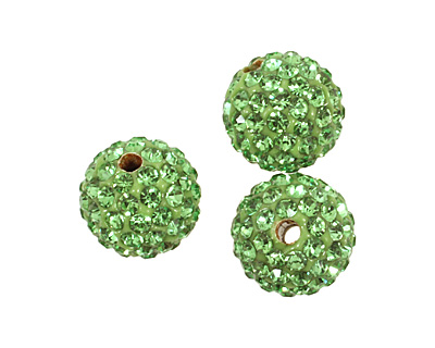 Shamrock Pave Round 10mm (2mm hole)