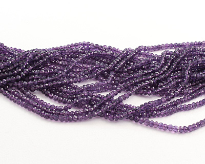 Amethyst Faceted Rondelle 3-4mm