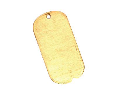 Brass Mini Dog Tag Blank 12x25mm