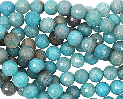 Blue Haze Fire Agate Faceted Round 16mm