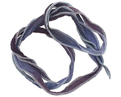 Moody Blues Blend Hand Dyed 100% Silk Ribbon 1/2