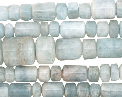 Aquamarine Barrel Rondelle Graduated 3-15x5-10mm