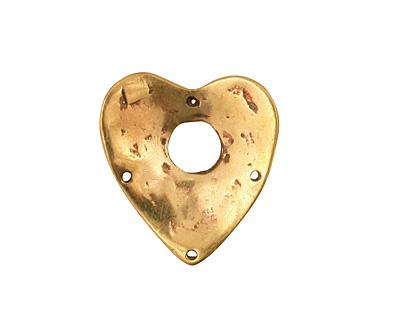 Green Girl Bronze Heart & Key Toggle 20x21mm, 22mm bar