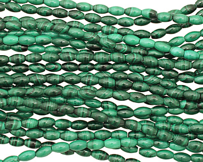 Malachite Rice 6x4mm