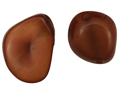 Tagua Nut Honey Banana Chip 22-29x16-22mm